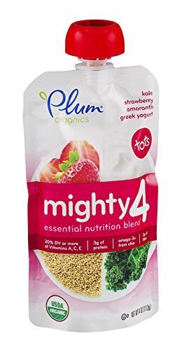 Plum Organics Yogurt Grk Kale Strwbry