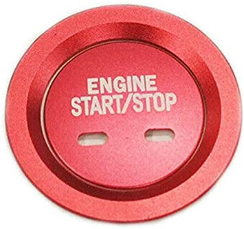 AONED Red Engine Push Start Button Cover /& Ring for Cadillac Chevy GMC Tahoe Malibu