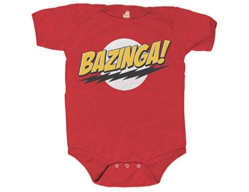 (Ripple Junction Big Bang Theory Bazinga No Face Infant Creeper 6 Months)