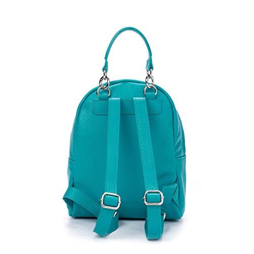 Sac Noir porté turquoise Turquoise Noir dos à pour main femme PRB1000 Turquoise Parubi PRB1552 au xAqFI5qw