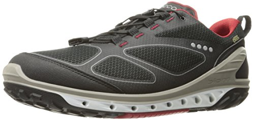 - ECCO Men's Biom Venture Textile Gore-TEX Hiking Shoe Black/Brick, 43 EU/9-9.5 US