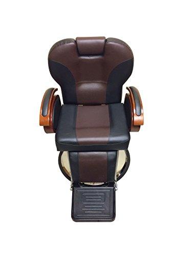 BBQ All Purpose Hydraulic Recline Barber Chair Salon Shampoo Beauty Spa Equipment (Black and Brown) (All Purpose Shampoo Bar)