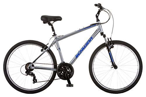 Schwinn Suburban Deluxe Comfort Hybrid Bike, Featuring Step-Over Aluminum Frame and 21-Speed Drivetrain with 26-Inch Wheels, Medium/18-Inch Frame, Grey