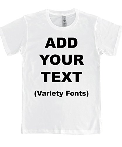 Custom T Shirts Ultra Soft Add Your Text for Men & Women Unisex Cotton T Shirt [White/M]