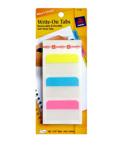 Avery Write-On Tabs, 1.75 Inches, 48 Tabs (16143) by Avery (Image #2)