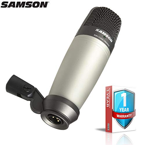 Samson C01 Condenser Microphone with Extended Warranty Bundle