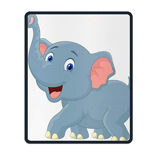 Vector Clipart Elephant Mouse pad Gaming Mouse pad Mousepad Nonslip Rubber Backing -