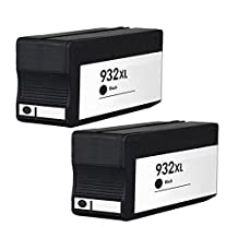 Virtual Outlet ® 2 Pack Compatible Inkjet Cartridges for HP 932XL & 933XL 932 933, CN053AN Black Compatible with HP OfficeJet 6100 OfficeJet 6600 OfficeJet 6700 Premium OfficeJet 7110 OfficeJet 7110 Wide Format ePrinter - H812a OfficeJet 7110xi OfficeJet 7610 OfficeJet 7612 Wide Format e-All-in-One (G1X85A)