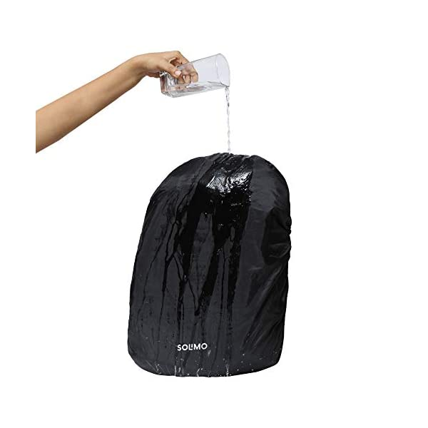 419jCKU2MUL Amazon Brand - Solimo Rain & Dust Cover for Backpack (30 litres, Black)