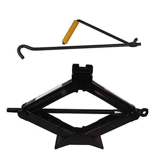 Scissor-Type Manual Adjustment Jacks, Black Portable Car Jacks, Suitable for Sedan Cars and Miniature SUV, Max Load 1.5 Tons (3300lbs)