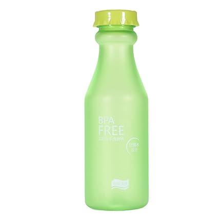 Eleganantamazing - Botella de Agua de plástico sin BPA, 550 ML, Impermeable, antigoteo