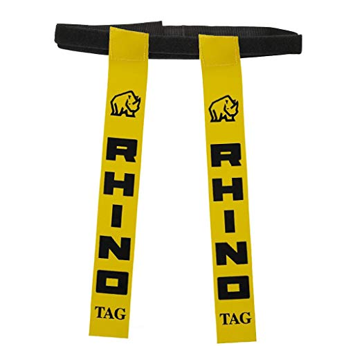 (RHINO RUGBY 10 Pack All-VelcroTagbelts | Yellow Flags)
