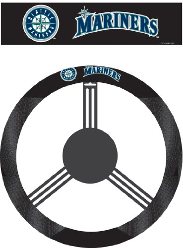 Fremont Die MLB Seattle Mariners Poly-Suede Steering Wheel Cover by Fremont Die