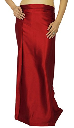 ibaexports Ready-Made Inskirt Lining For Sari Indian Satin Silk Petticoat Gift For Women