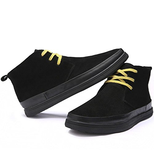 Fashion TAOFFEN Black Men's Shoes Casual Boots CPp5n6xP
