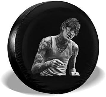 Mitch Lucker The Band Suicide Silence へタイヤカバー タイヤカバー スペアタイヤカバー タイヤ袋 へタイヤバッグ タイヤトート へタイヤ ホイール 保管 タイヤ 収納 に便利 防紫外線 防塵 防水 厚手生地 劣化対策 長持ち