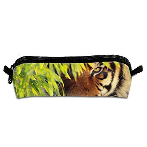Jingloe Tiger Eye Pencil Case 3D Zipper Pencil Bag Holder Pen Box Organizer Stationery for Kids Students ()