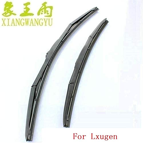 (Wipers Car wiper blade for Luxgen 5 sedan 6 SUV 7 SUV MASTER.CEO 2pcs/PAIR fit standard J hook wiper arms only - (Item Length: Other sizes))