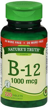 Nature's Truth B-12 1000 mcg Vitamin Supplement - 220 Tablets, Pack of 6 by Nature's Truth