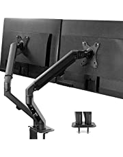 VIVO Articulating Single 17 to 27 inch Screen Mechanical Spring Arm Mount, Clamp-on Desk Stand, Fits Monitors with Max VESA 100x100