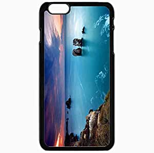 Unique Design Fashion Protective Back Cover For iPhone 6 Plus Case Slim (5.5 inch) Beautiful Sunset Landscape Beautiful Black