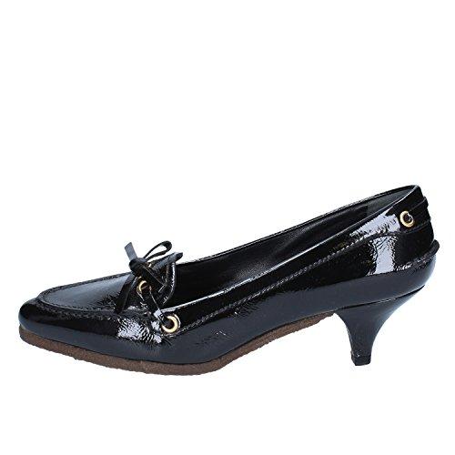 Car Shoe - Zapatos de vestir de charol para mujer negro negro