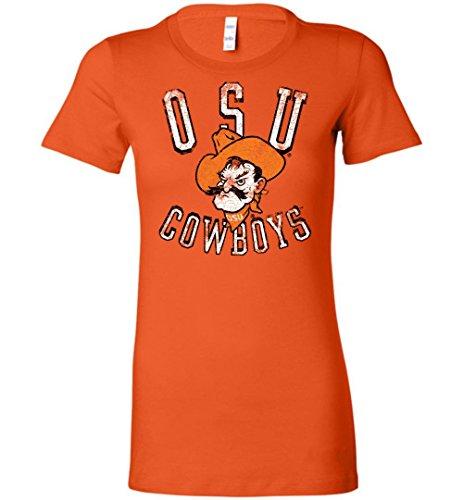 Official NCAA Oklahoma State University Cowboys OKState Pistol Pete OSU Ladies Favorite Tee - osuc1019 Oklahoma State University Baby Clothes