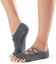 Toesox Elle Half Toe Multi Pack – Grip Non-Slip Toe Socks for Pilates Barre Yoga