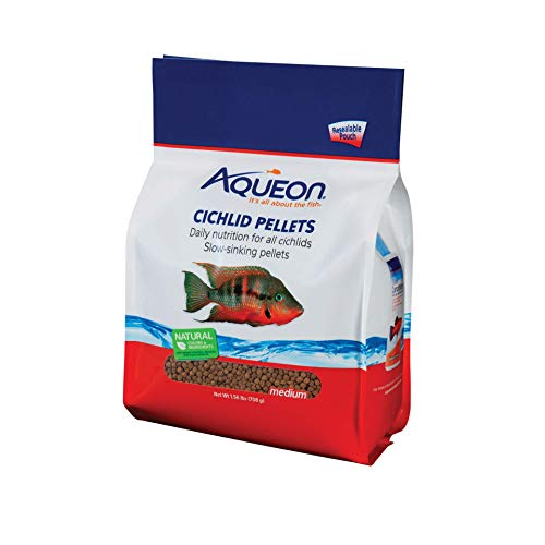Aqueon Cichlid Food Medium Pellets, 25-Ounce ()