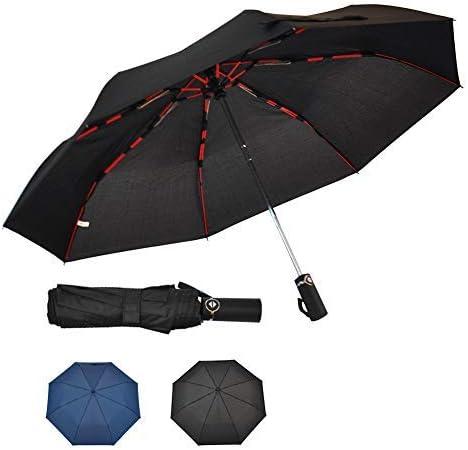SoulRain Full Automatic Umbrella Windproof 3 Folding Auto Open Close Rain Umbrellas Compact 8 Ribs Portable Travel for Men Women 46 Inch [並行輸入品]