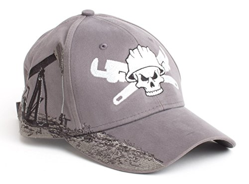 Roughneck Skull & Wrenches | Oilfield Worker Hat, Fracking, Oil Baseball Cap
