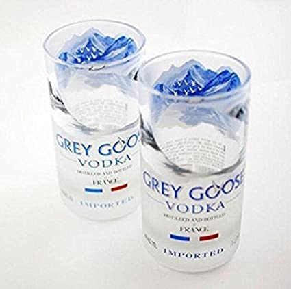 Grey Goose Vodka Rocks Glasses Set of 2 Great Gift Interior Design