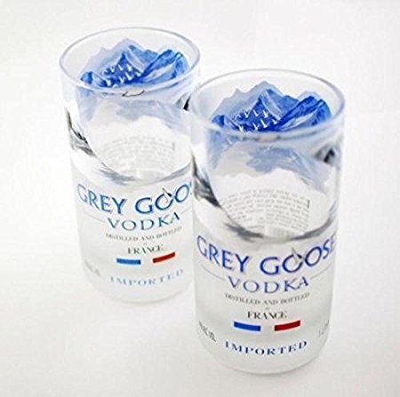 Grey Goose Vodka Rocks Glasses Set of 2 Great Gift Interior