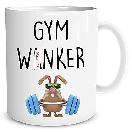Funny Novelty Coffee Mug Gym Wanker Husband Boyfriend Best Friend Gift Lover Cup Birthday Christmas Secret Santa Idea WSDMUG1206 Amazoncouk