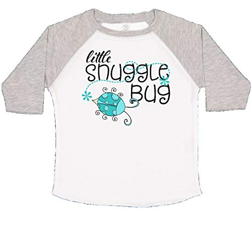 (inktastic - Little Snuggle Bug Aqua Toddler T-Shirt 3T White and Heather 29ef2)