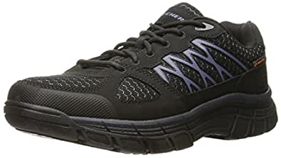 Skechers for Work Men's Conroe Dierks Work Shoe, Black, 7 M US