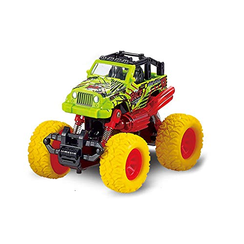 Monster Pullback Racer Cars, Dual Pullback Off Road Race Cars Toys with Shockproof Spring 4 Wheels Pull Back Trucks Toys for Boys Girls Toddler Aged 3+, Best Gift for Kids