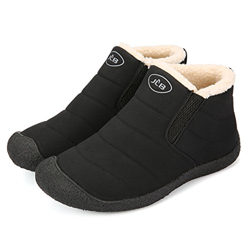 Image of gracosy Snow Boots for Men & Women, Unisex Winter Outdoor Slip On Ankle Snow Booties with Cotton Lined