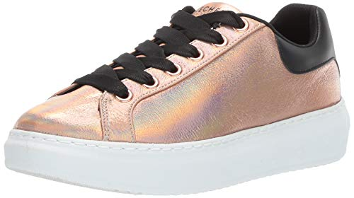 Skechers Women's High Street. Crackled Metallic lace Fashion Sneaker, Rose Gold, 9 M US