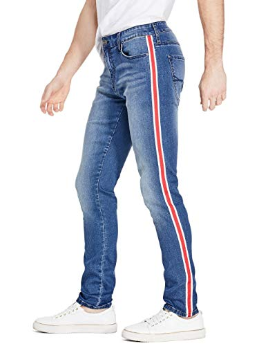GUESS Factory Men's Dallas Striped Skinny Jeans ()