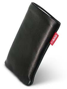 Beat Black fitBAG-Funda para ASUS P750. medida a piel de napa de calidad superior con forro de microfibra para limpieza de pantalla