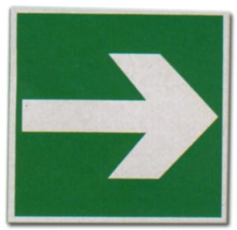 Luminarias de verde - flecha - dirección indicación para ...