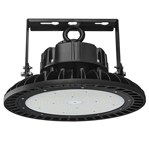 Dephen 240W Led High Bay Lighting 5000K 32400Lumens Dimmable Led Garage Lights UFO High Bay Lighting Fixutre LED Warehouse Lighting with Mounting Bracket, UL-Listed
