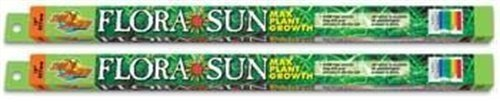 (2 Pack) Zoo Med Coral Flora Sun Plant Growth Bulb T8 17 Watts, 24-Inch