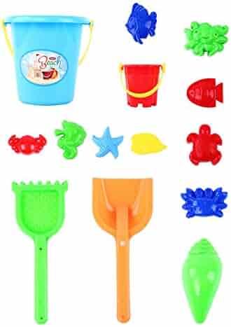 d3d56f1896 gia0ncAcYG Beach Toy Set,6/14Pcs Kids Sand Beach Toys Castle Bucket Spade  Rake