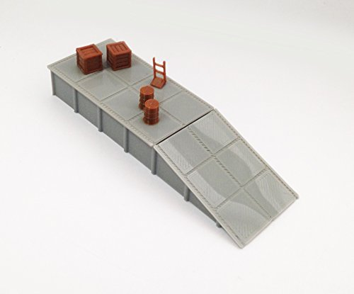 Outland Models Train Railway Layout Platform / Loading Dock w Goods HO Scale