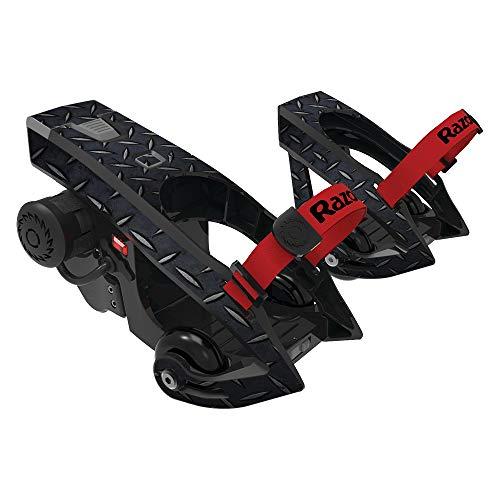 509658eab77 ... MightySkins Skin Compatible with Razor Turbo Jetts Electric Heel Wheels  - Black Diamond Plate | Protective
