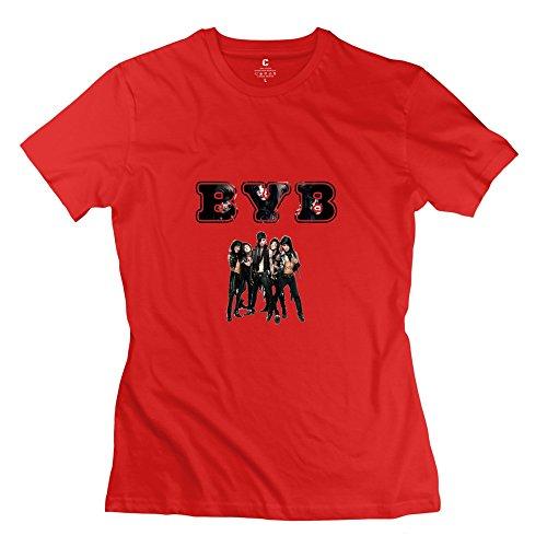 StaBe Women Black Veil Brides BVB T-Shirt 100% Cotton Cute M Red