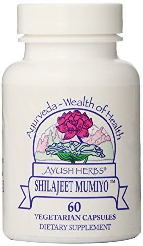 Ayush Herbs Shilajeet Mumiyo Herbal Supplement, 60 Count