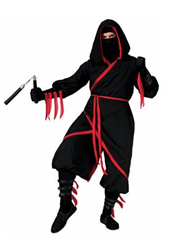 Ninja Costume Mens (Forum Novelties Men's Rogue Ninja Costume, Black/Red, Standard)